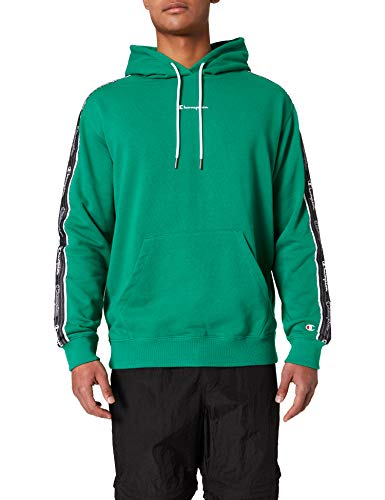 Champion Herren Seasonal American Tape Hooded Kapuzen-Sweatshirt, grün, M