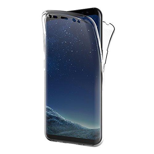 AICEK Funda Samsung Galaxy S8, Transparente Silicona 360°Full Body Fundas para Samsung S8 Carcasa Silicona Funda Case (5.8')