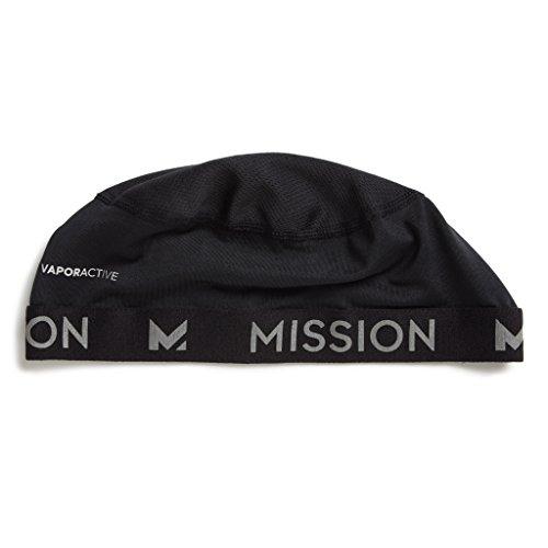 Mission VaporActive Cooling Skull Cap, Jet Black, One Size