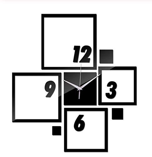 Wandklokspiegel Acryl Materiaal Muurstickers Europese Wandklok Quartz Clock Woondecoratie Zakhorloge