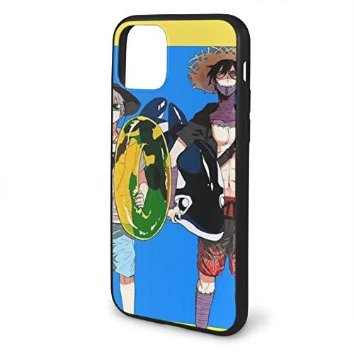 Leonsense My Hero Academia Anime Shoto Dabi Beach Summer Japanese Arts Funda de Teléfono Negra Compatible con iPhone 12/12Pro MAX 11 11 Pro MAX XR XS SE 2020/7/8 6/6s Plus Samsung Series Caso