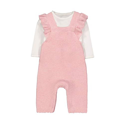 Mothercare NB Knitted Dungaree Ensemble, Noir (Pink 130), New Baby (Size:56) Mixte bébé