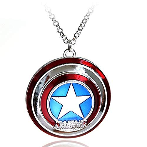 POIUIUYH Co.,ltd Necklace Fashion Silver Charm Captain America Super Heroes Pendant Necklace Film Jewelry Men Women Gifts