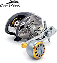 CAMEKOON LH201 Baitcasting Fishing Reel Ultra Smooth 18+1 Shielded Ball Bearings, 6.3:1 Gear Ratio, 18 LB Max Drag Baitcaster Fishing Reel with Crank Handle