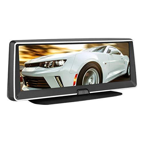 DAUERHAFT HD Bluetooth DVR Grabación Doble Consola Central de 7 Pulgadas Plegado automático con un Clic, para Viajes agradables, para Muchos Coches