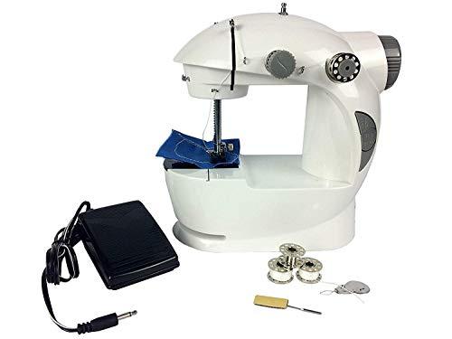 Mini máquina de coser eléctrica velocidad doble mini portátil de costura de la máquina de coser