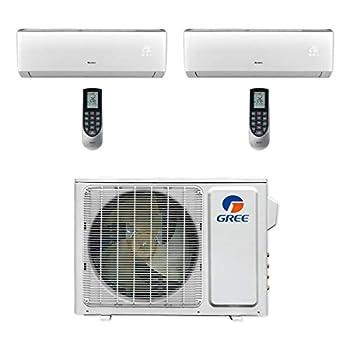 GREE 18,000 BTU Multi21+ Dual-Zone Wall Mount Mini Split A/C Heat Pump 208/230V SEER 21  9-9  - Built-in Wi-Fi