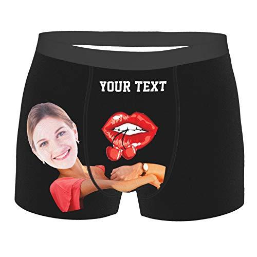 personalisierte Boxer , benutzerdefinierte lustige Boxer für Männer , personalisierte Gesicht Boxer Unterhosen für Männer mit Foto & Text , Unterwäsche Foto Multi Girlfriend Gesicht gedruckt