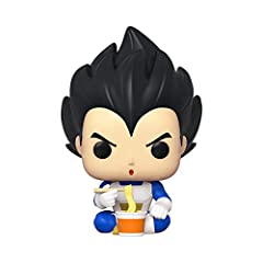 From Dragonball Z, Vegeta Eating Noodles, Spring Convention Exclusive, as a stylized POP vinyl from Funko! Stylized collectable stands 3 ¾ inches tall, perfect for any Dragonball Z fan! Collect and display all Dragonball Z POP! Vinyls! Funko POP! is ...