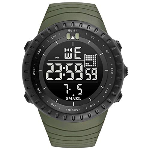 Digital Sports Watch Water Resistant Outdoor Easy Read Military Back Light Watches