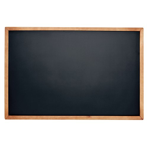 Rustic Wood Framed Magnetic Chalkboard Sign for Wall with Hanging Mounts and Non Porous Blackboard Surface Compatible with Liquid Chalk Markers - 11 x 17 Inches