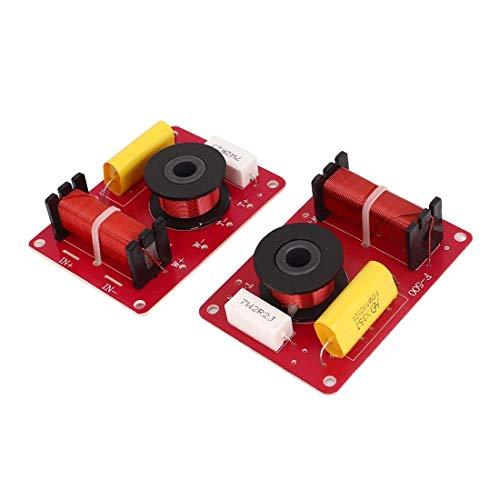 DollaTek 2Pcs Sistema de Altavoces de 2 vías de 130 vatios Filtros de Cruce de Audio Distribuidor de frecuencia