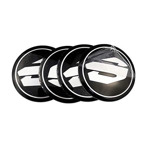 Tapacubos 4pcs Pegatinas de Hub del Coche Compatible con Toyota Alphard Corolla Rav4 Yaris Avensis Izoa Auris Tundra Tundra Crown Auto Wheel Center Cap Emblem Styling