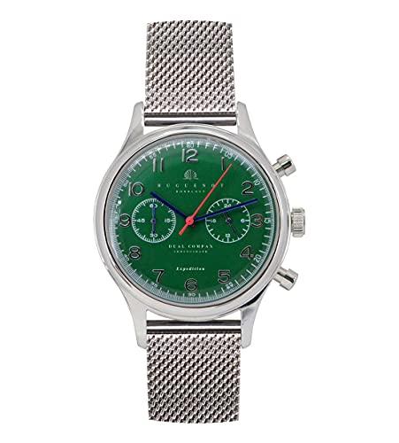 Huguenot Horology Emerald - Reloj de vestir analógico de cuarzo de 38 mm para hombre