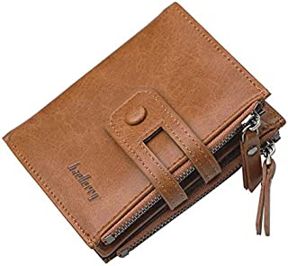 محفظة جلد طبيعي بجيب بسوستة صغير للنقود الورقية والعملات للرجال من بايليري