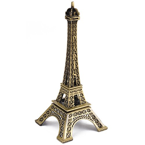 10 cm Décoration métal Paris Tour Eiffel en bronze ton modèle miniature