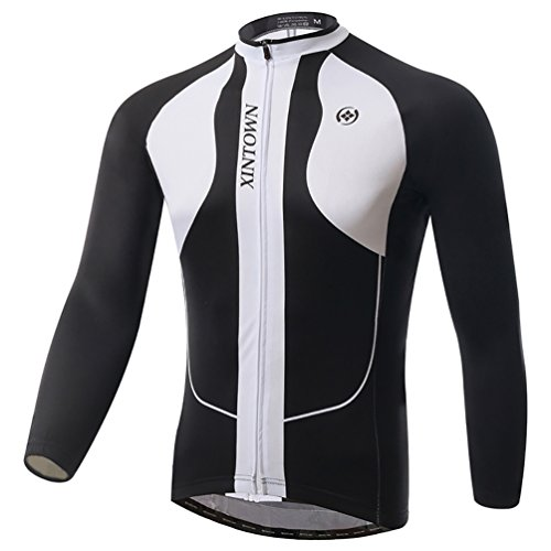 Baymate Unisexe Manches Longues Thermique Maillot de Cyclisme Windproof Veste XL