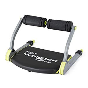 WONDER CORE Smart : Body Muscle Toning + Cardio - Fitness Equipment - Compact & Portable - Muscles Building Exercises | Color (Black/Green) with Original Training App & Fitness Guide
