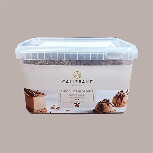 LUCGEL Srl (1 Kg) Trucioli Riccioli di Cioccolato Al Latte Blossoms Milk CALLEBAUT x Pasticceria e Gelato