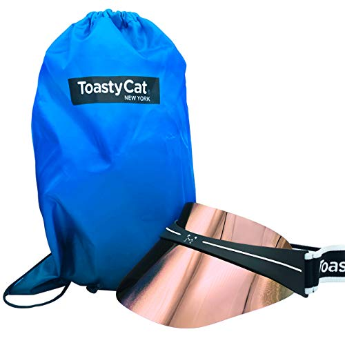 ToastyCat Best Sun Visor for Women & Mens Sports, Includes Travel Bag, Full Summer Fashion UV Protection Sunhat with Neon Mirrored Lens for Running, Tennis, Hiking, Golf, Cute Cat Design