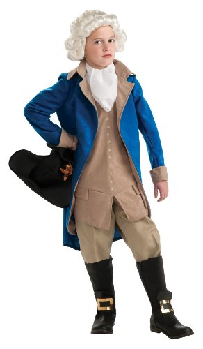 Rubie's Deluxe George Washington Children's Costume, Medium