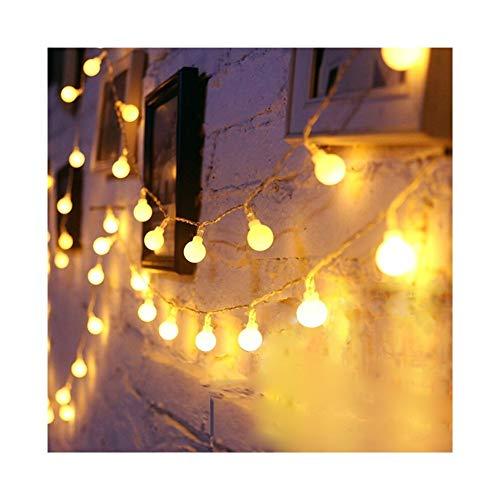 A-myt romántico y cálido LED Bola Guirnalda Promiscuo Hada Cadena Impermeable Afecto Lámpara Fiesta Fiesta de Boda Decoración Vistoso (Emitting Color : C, Style : Battery Box)