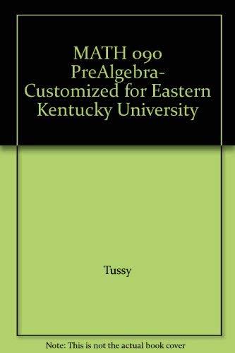 MATH 090 PreAlgebra- Customized for Eastern Kentucky University