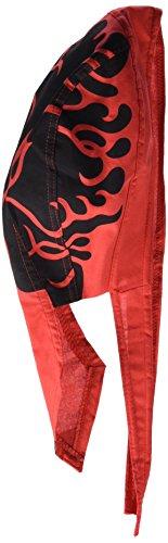 Zanheadgear Flydanna Bandanna, 100% Cotton, Flames Red II