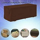 Outdoor Deck Box Cover Garten wasserdicht UV-Schutz Aufbewahrungsbox Schutzhülle 123x62x55cm