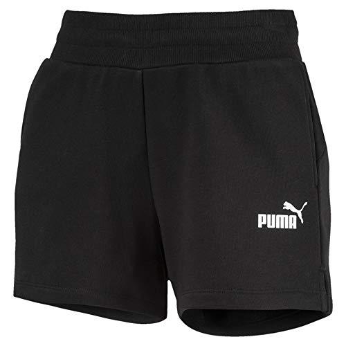 PUMA Damen ESS Sweat Shorts TR Hose, Cotton Black, M