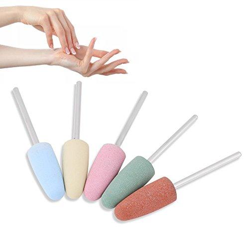 Yunnyp 5St Nail Art Siliconen Roterende Polijstmachine Nagelschuurmachines Boren Manicure Machine Gladmakende Boor
