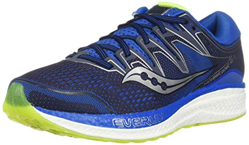 Saucony Men's Hurricane ISO 5, Navy/Citron, 8.5