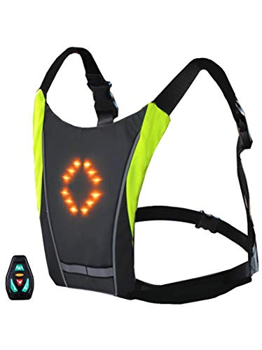FARE GROUP Chaleco Reflectante LED para Bicicletas y Patinetes electricos - Indicador...