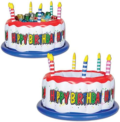 Aufblasbare Geburtstagstorte Kühler (1 Pkg) Pkg of 6 Mehrfarbig