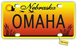 Tobe Yours License Plate Cover Nebraska State - Omaha Printed Auto Truck Car Motorcycle Front Tag Metal License Plate Frame Cover 6