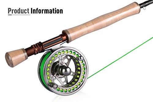 Gotureフライフィッシングロッドセットコンプリートセットフライロッドカーボンロッド#54ピースアルミ製リール渓流管理釣り場超軽量初心者入門者釣り道具ユニーク収納バッグ付き