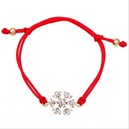 RQWY Armband Wintermode Weihnachten Armband Für Frauen Weihnachtsmann Herz Schneeflocke Form Armband Mehrere Stil Schmuck