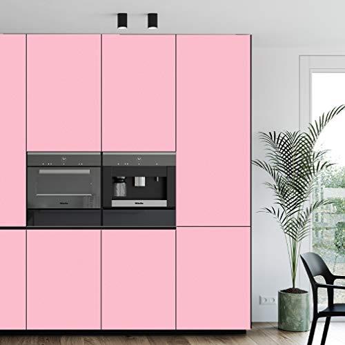 PROHOUS Möbelaufkleber Klebefolie Selbstklebende Tapete 0.4 x 3M PVC Folie Pink Küchefolie Dekorfolie Wasserfest Wandtapete Mit Glitzer für Möbel Küche Schrank Schlafzimmer DIY Wandaufkleber