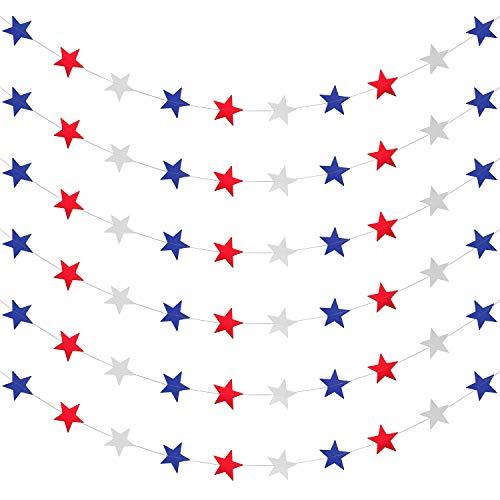 Red White Blue Star Star Garland