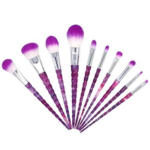 YNNB Fil De Pinceaux De Maquillage Ensemble De Pinceaux De Maquillage Outils Trousse De Toilette De Maquillage Pinceau Cosmétique en Fibre Pinceau pour Les Yeux 10Pcs (Taille, 10 Pièces), 10 Pièces