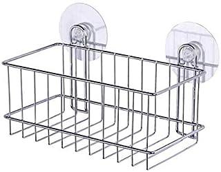WENKO Static-Loc® étagère profonde Osimo - fixer sans percer, Acier, 26 x 16 x 14 cm, Chromé