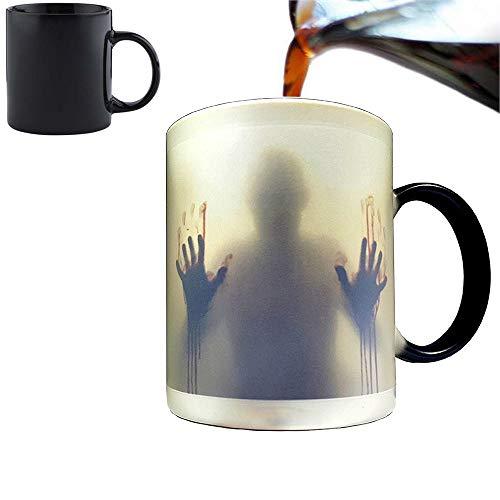 Orama MUG1051Custom - Taza Sensible al Calor con Cambio de Color, cerámica, 12,5 cm, diseño de The Walking Dead, Color Negro