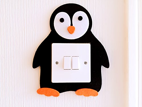 Super Cute 3D Penguin Light Switch Wall Sticker, Premium Quality Thick Felt Material, Must Have For All Penguin Lovers! Children Boys Girls Bedroom Nursery Room Decor!