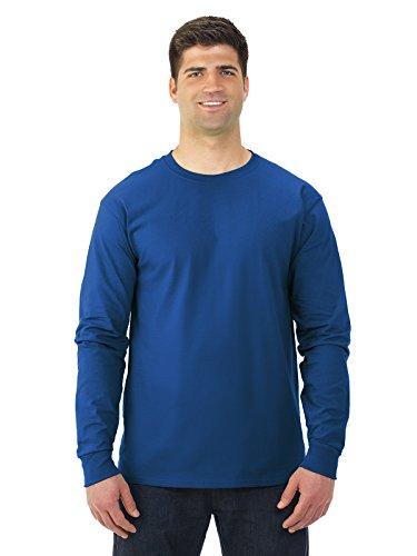 Fruit of the Loom 5 oz.Heavy Cotton HD Long-Sleeve T-Shirt (4930) -Royal -XL