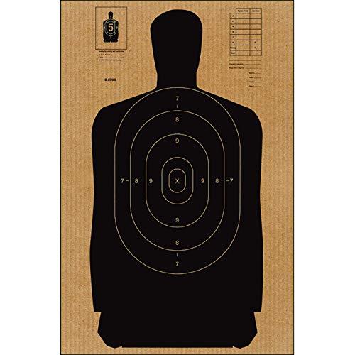 24 Pcs, Full Size Standard B-27 Cardboard Target Silhouette...