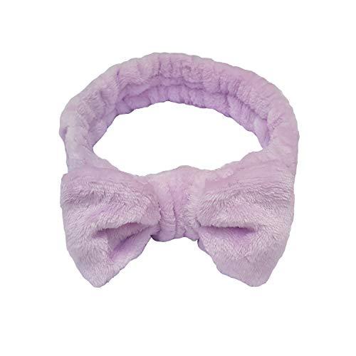 1 Faixa De Cabelo Pelúcia Com Laço Para Maquiagem Skin Care (Liso 2)