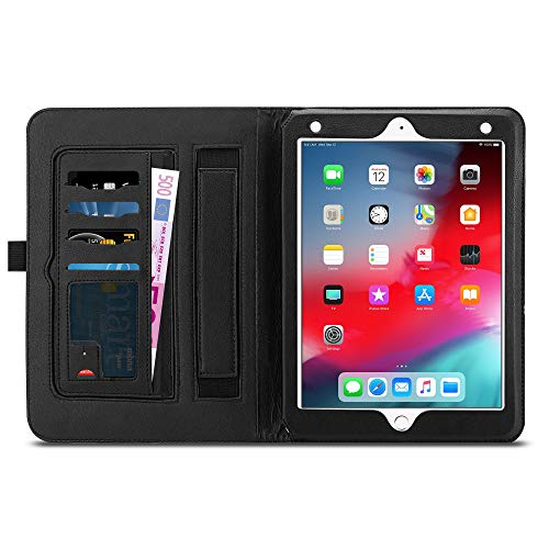 JAMMYLIZARD Custodia per Apple iPad 9.7 2017/2018, iPad Air 2 e iPad Air Flip Cover a Libro Ultra Slim in Pelle, Nero