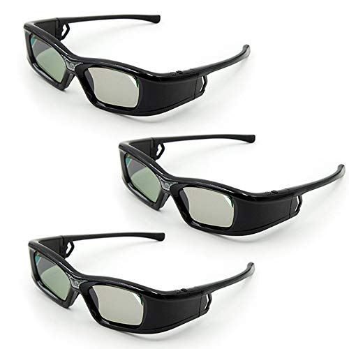 Docooler GL410 - Gafas 3D para proyector Full HD Active Link DLP para Optama Acer BenQ ViewSonic Sharp Proyectores DELL DLP Link