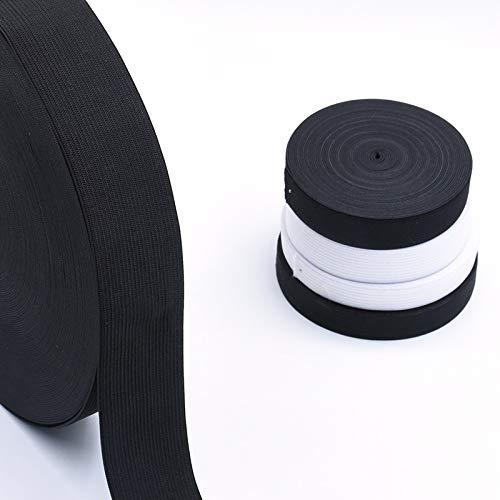 1-5 미터 평 탄력 밴드를 꿰매 의류 나일론 가죽 끈 의류 재봉 폭 1 | 1.5 | 2 | 2.5 | 3 | 4 | 5CM LIUQIANGMEIGUO(색상:40MM 흰색 크기:3 미터)