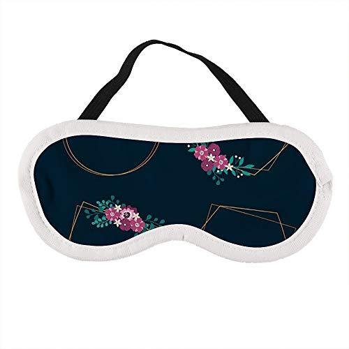 Tragbare Augenmaske für Männer und Frauen, Hochzeits-Rahmen mit Blumen, die beste Schlafmaske für Reisen, Nickerchen, geben Ihnen die beste Schlafumgebung